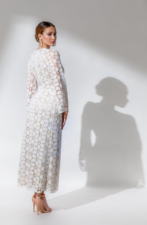 ΦΟΡΕΜΑ SNOW WHITE φορεμα   open rose  evening and cocktail dress   long dress