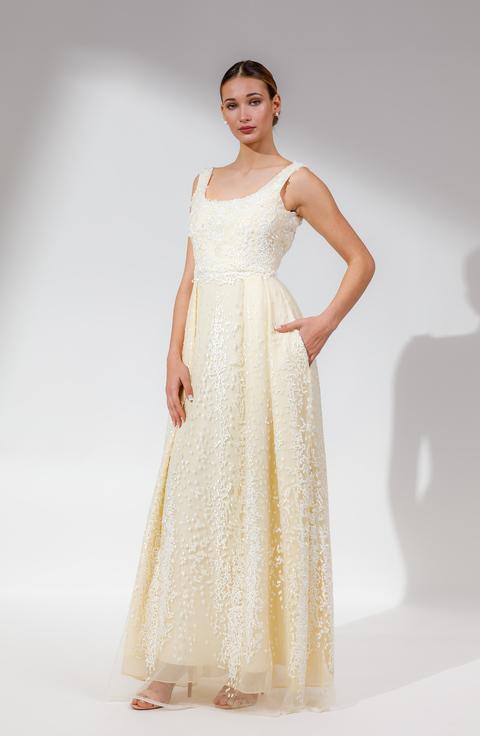 ΦΟΡΕΜΑ WHITE COCOON φορεμα   open rose  evening and cocktail dress   long dress
