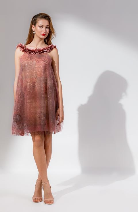 ΦΟΡΕΜΑ DESERT ROSE φορεμα   open rose  evening and cocktail dress   mini dress