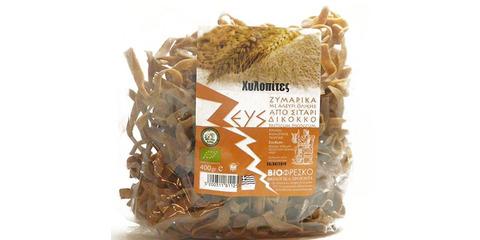 Χυλοπίτες από βιολογικό δίκκοκο σιτάρι ολικής 0,4kg