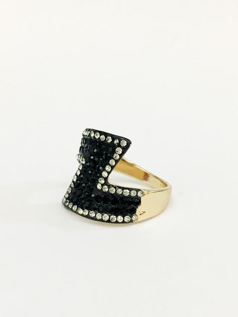 δαχτυλίδι χρυσό με στρας