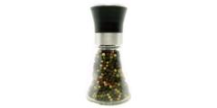 Μύλος πιπεριού γυάλινος μικρός (ύψος: 11cm) - μπαχαρικά