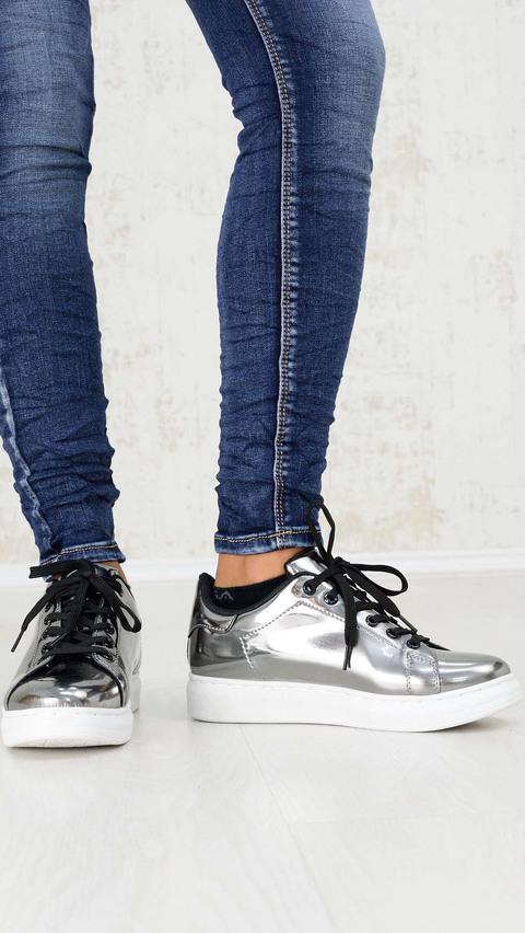 Μετταλικά sneakers  - Ασημένιο