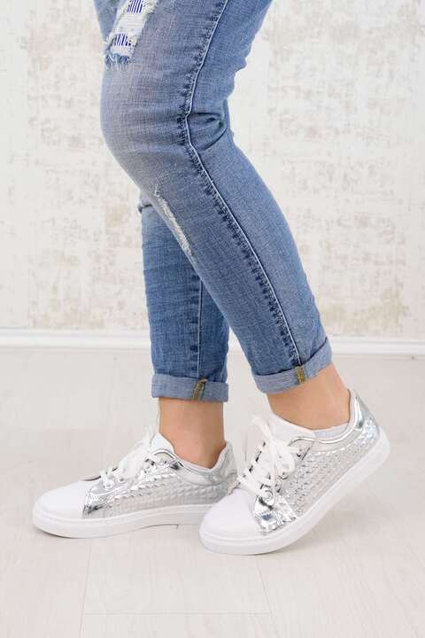 Ασημένια sneakers - Ασημένιο