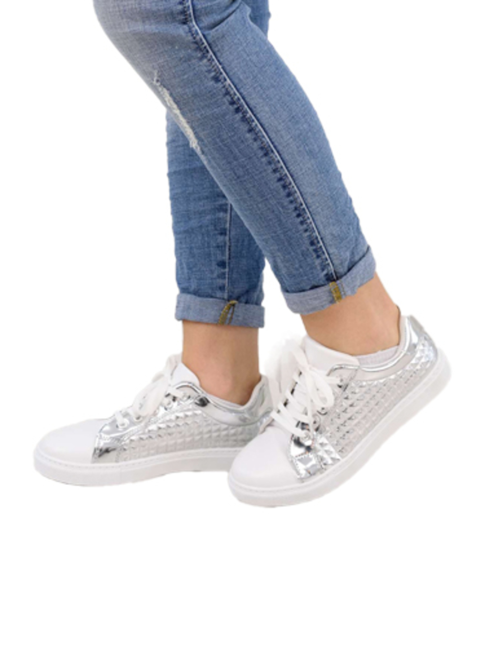 Ασημένια sneakers