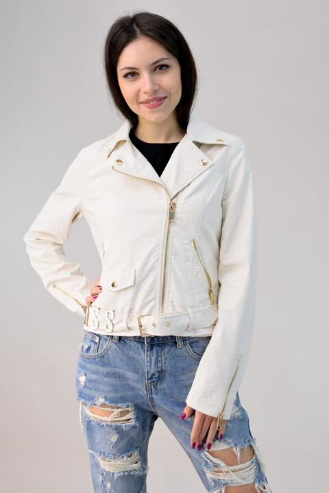 """Biker jacket """"miss"""" - Λευκό"""