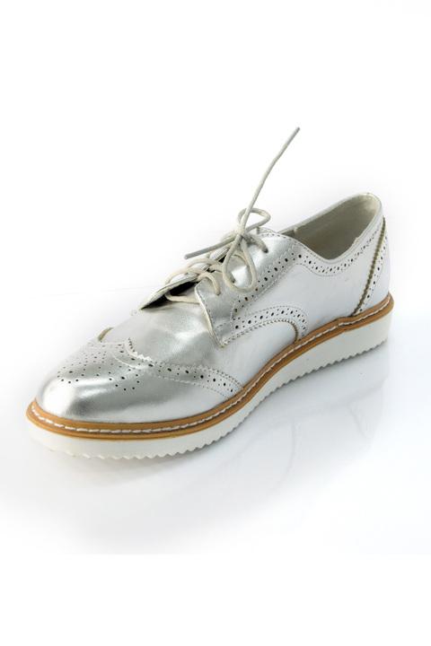 Μεταλλικά sneakers  - Ασημένιο