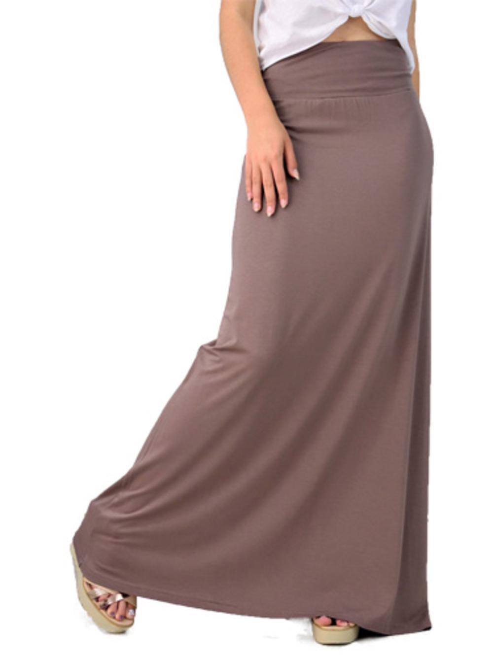 Μονόχρωμη μακριά φούστα