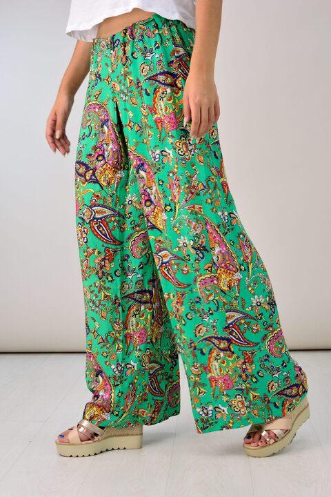 Εμπριμέ παντελόνα - Πράσινο