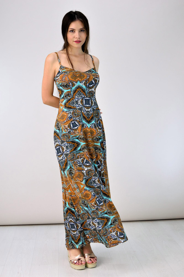 53066fe0ae7 Μακρύ εμπριμέ φόρεμα