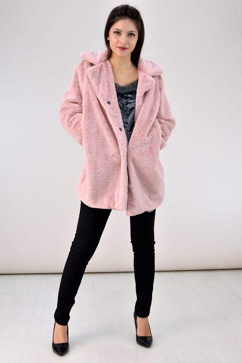 Γούνινο παλτό - Ροζ