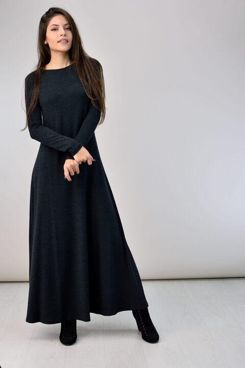 Μακρύ φόρεμα - Ανθρακί