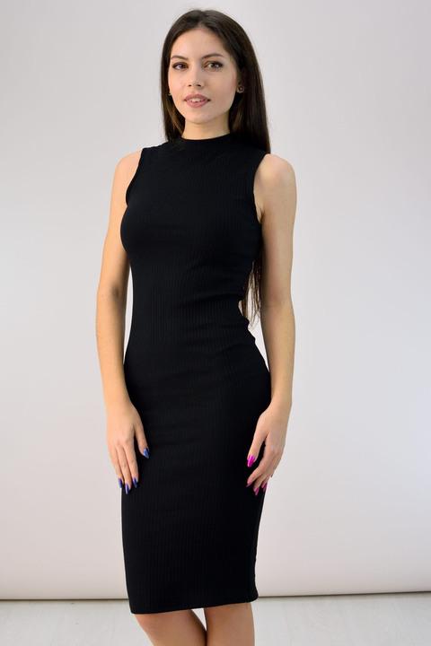 Φόρεμα με γραμμή pencil - Μαύρο