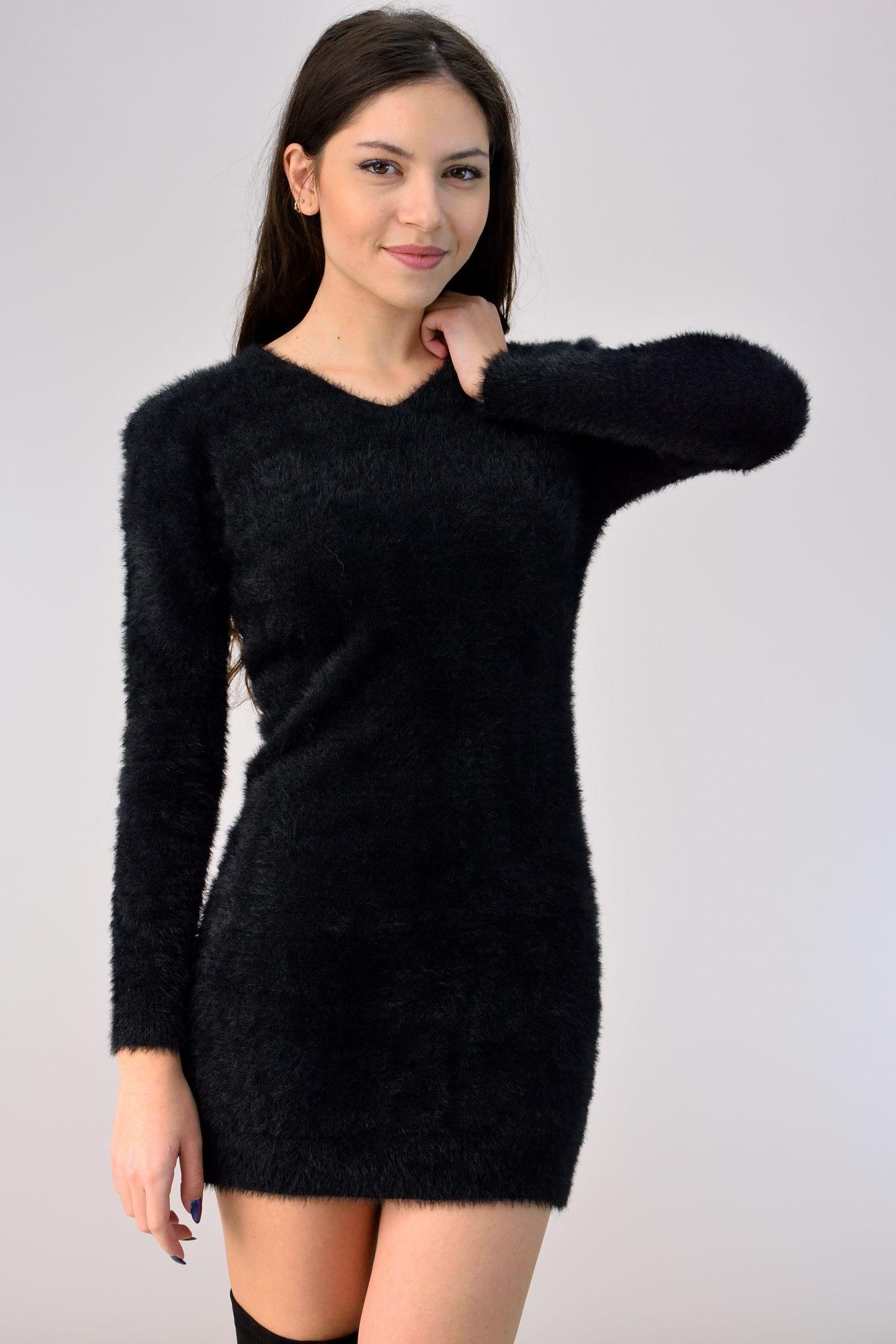 ff26db9a8199 Φόρεμα εφέ συνθετική γούνα - ΦΟΡΕΜΑΤΑ