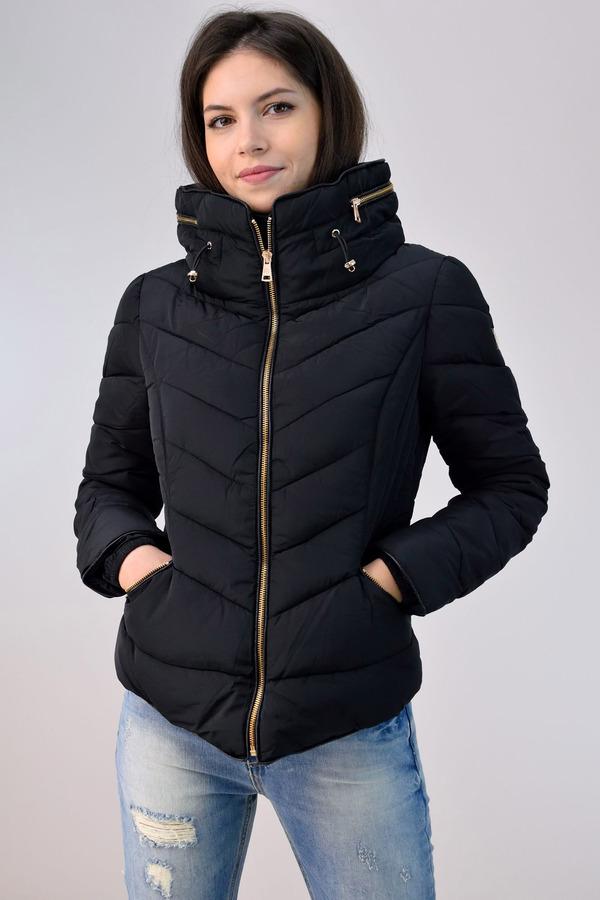 58a25ae3b4a3 Κοντό μπουφάν με όρθιο γιακά - Γυναικεία μπουφάν