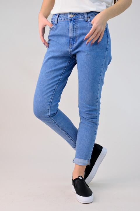 Παντελόνι τζιν mom fit - Μπλε Τζιν