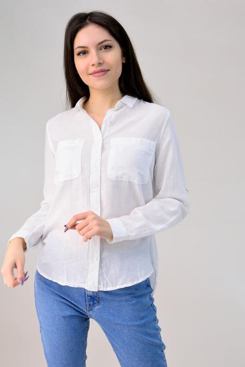 Πουκάμισο με τσέπες - Λευκό