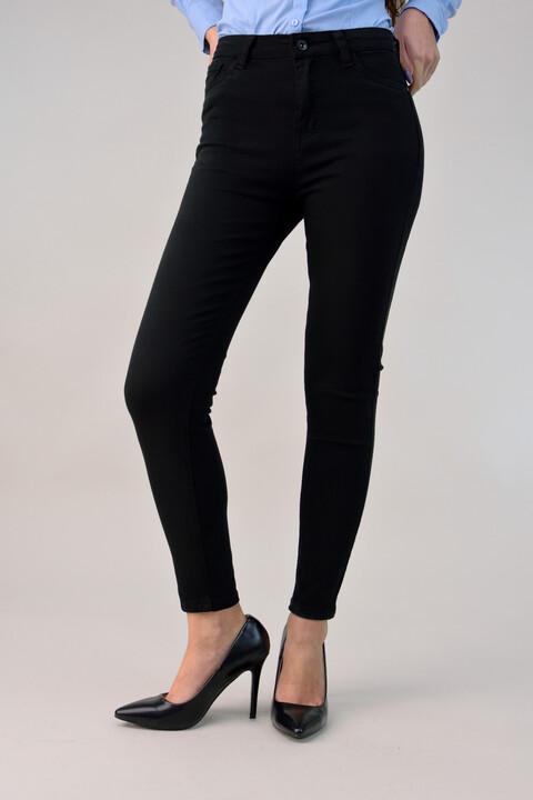 Παντελόνι ψηλόμεσο skinny - Μαύρο