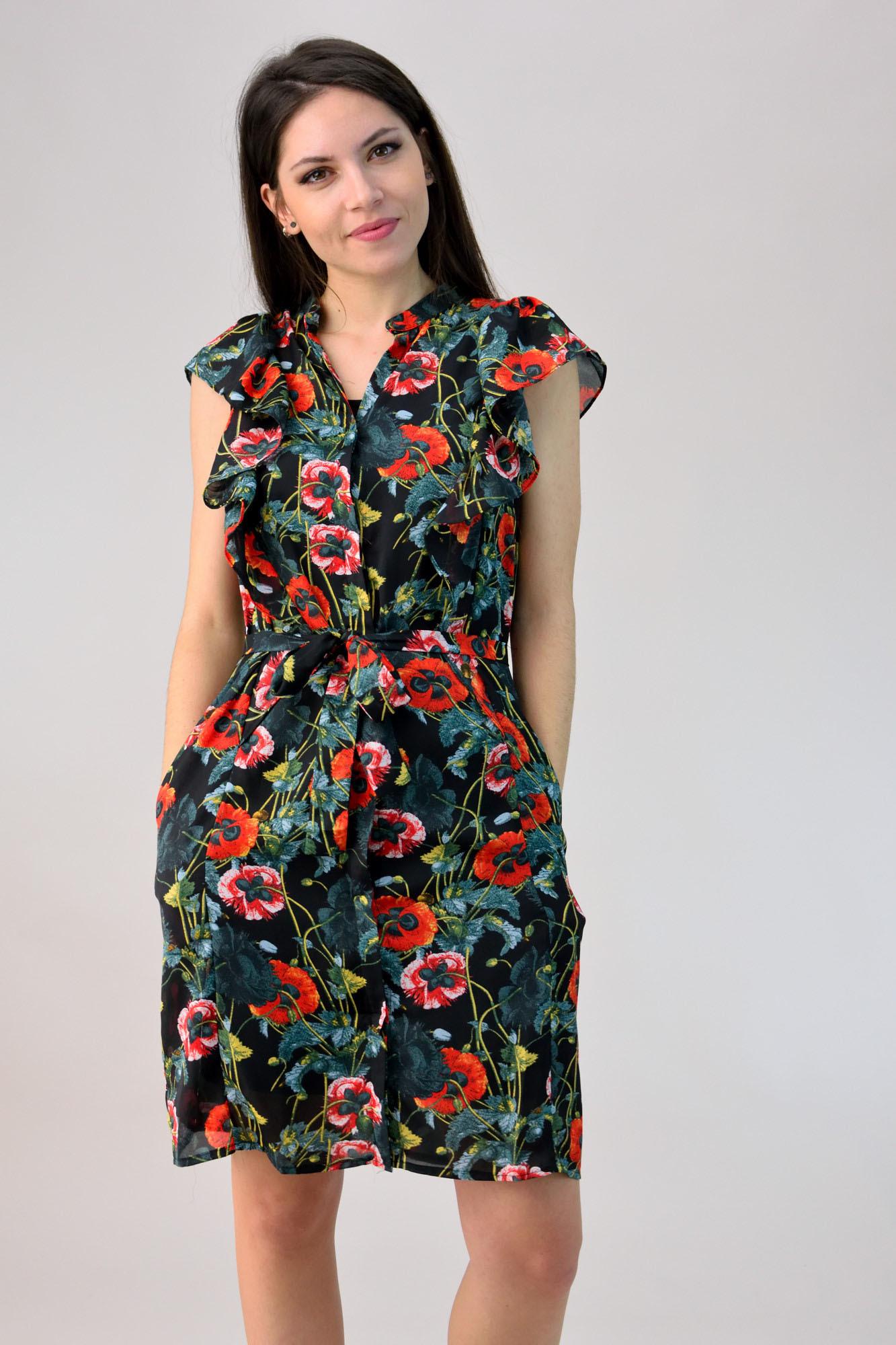 bd8881747b4b Φόρεμα floral με βολάν