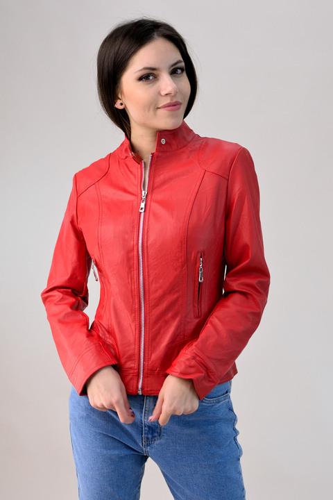 Jacket δερματίνης - Κόκκινο