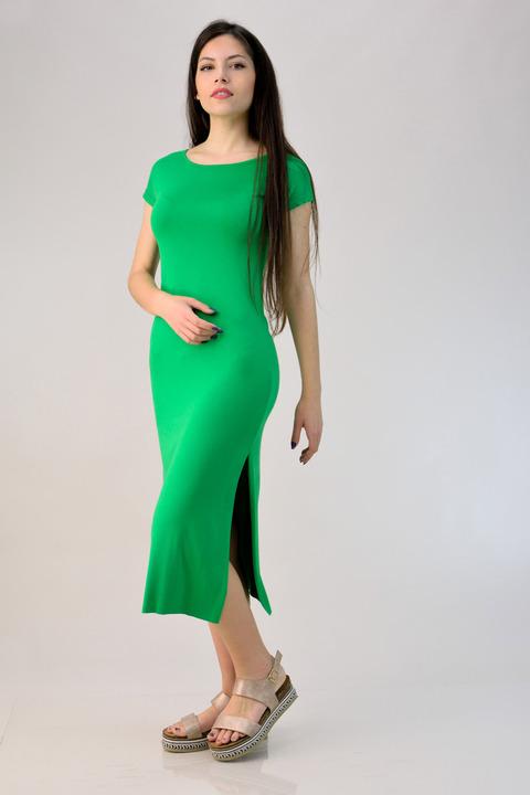Φόρεμα εφαρμοστό με ανοίγματα - Πράσινο