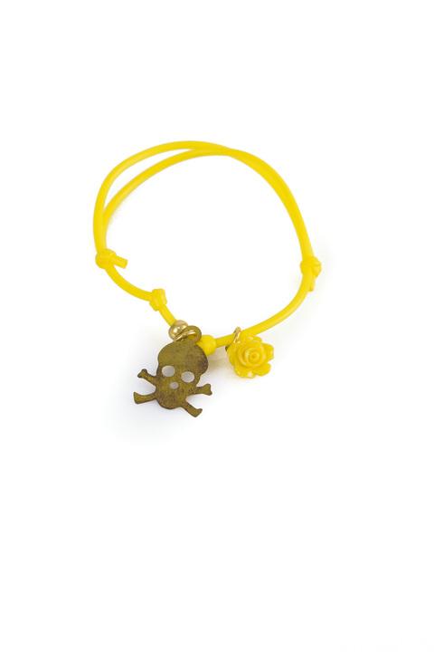 Βραχιόλι με νεκροκεφαλή - Κίτρινο