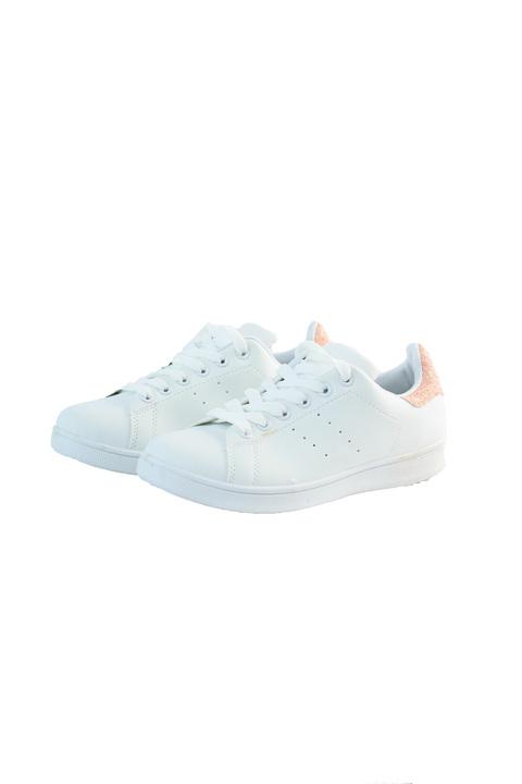 Sneakers με λεπτομέρεια στρας - Λευκό