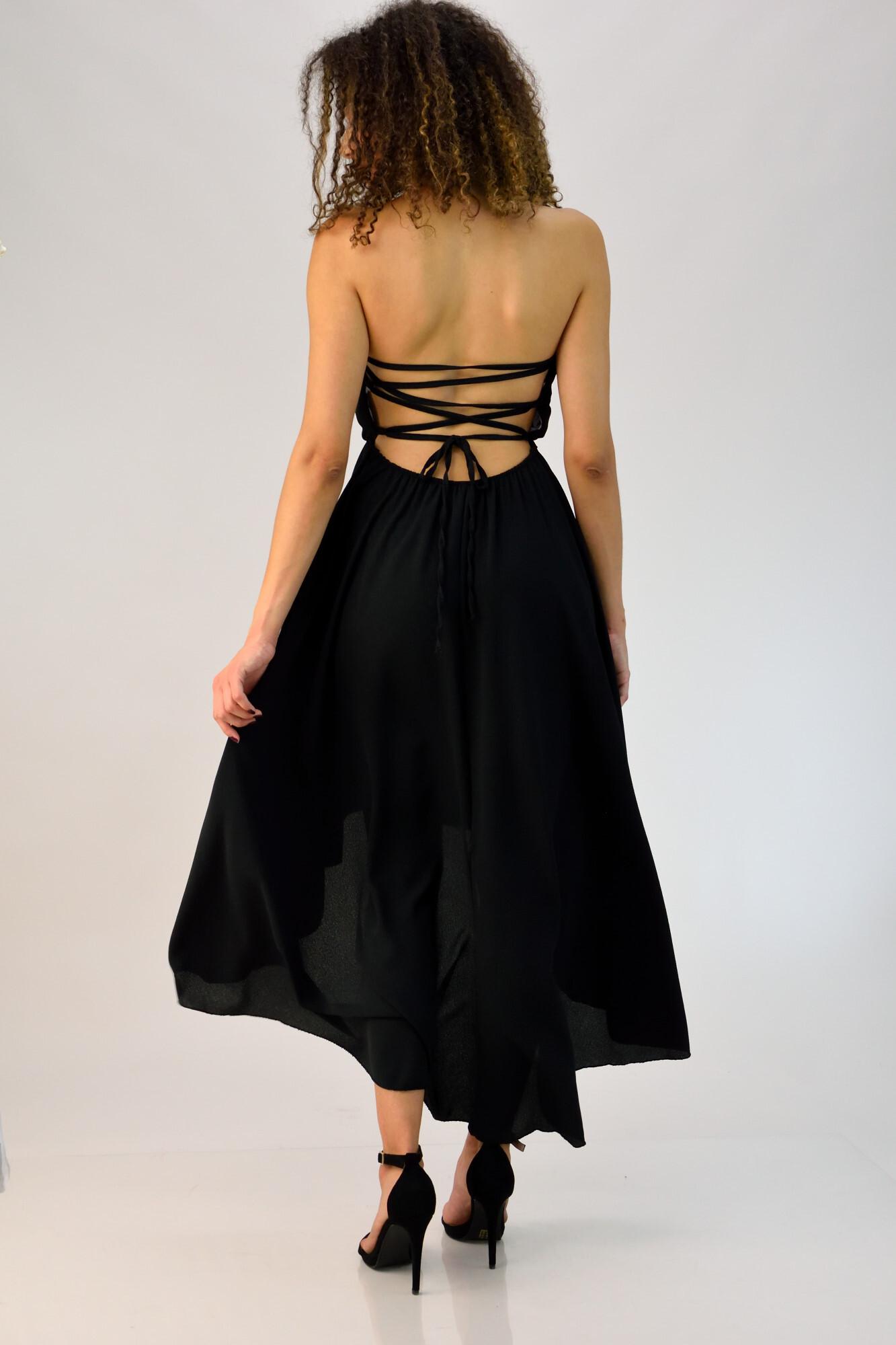 43743906a686 Φόρεμα στράπλες με ανοιχτή πλάτη. Tap to expand