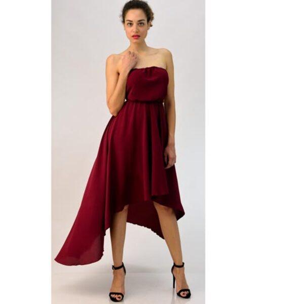 daf68c4e22dd Φόρεμα στράπλες με ανοιχτή πλάτη