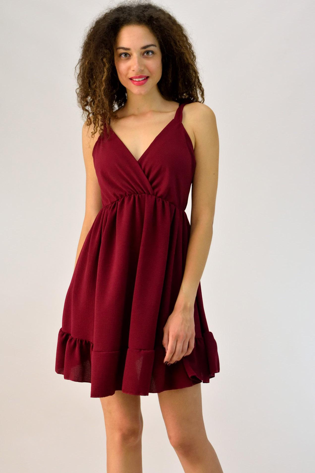 fce87c2b9d2e Μίνι φόρεμα κρουαζέ με βολάν