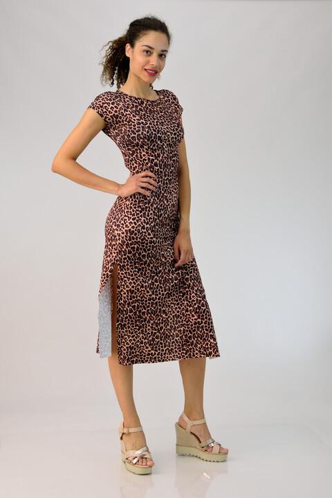 Φόρεμα midi animal print - Animal Print