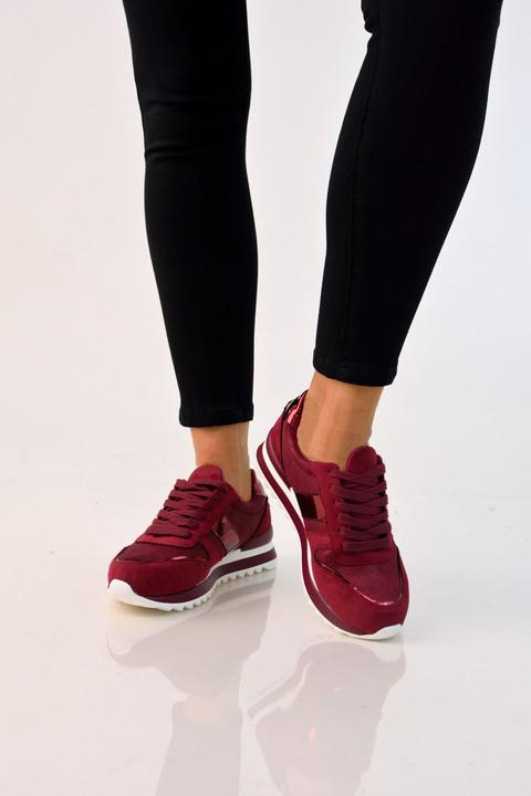 Sneakers suede - Μπορντώ