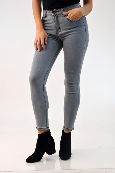 Γυναικείο παντελόνι τζιν γκρι - Γκρι