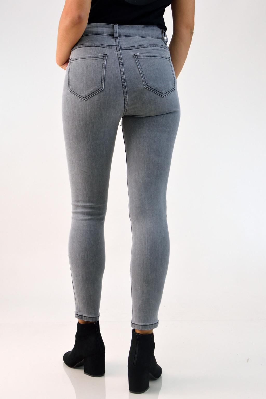 754d6b86c63 Γυναικείο παντελόνι τζιν γκρι | POTRE