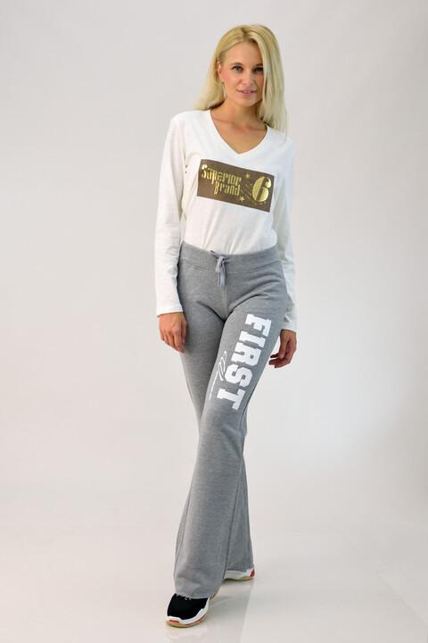 Παντελόνι φούτερ με τύπωμα - Γκρι