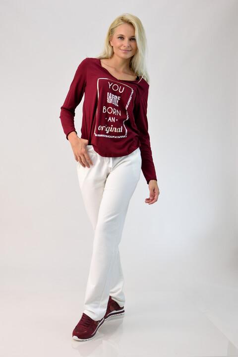 Βαμβακερό παντελόνι φόρμας - Εκρού