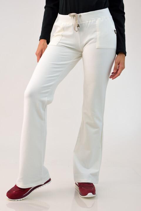 Παντελόνι φούτερ - Εκρού