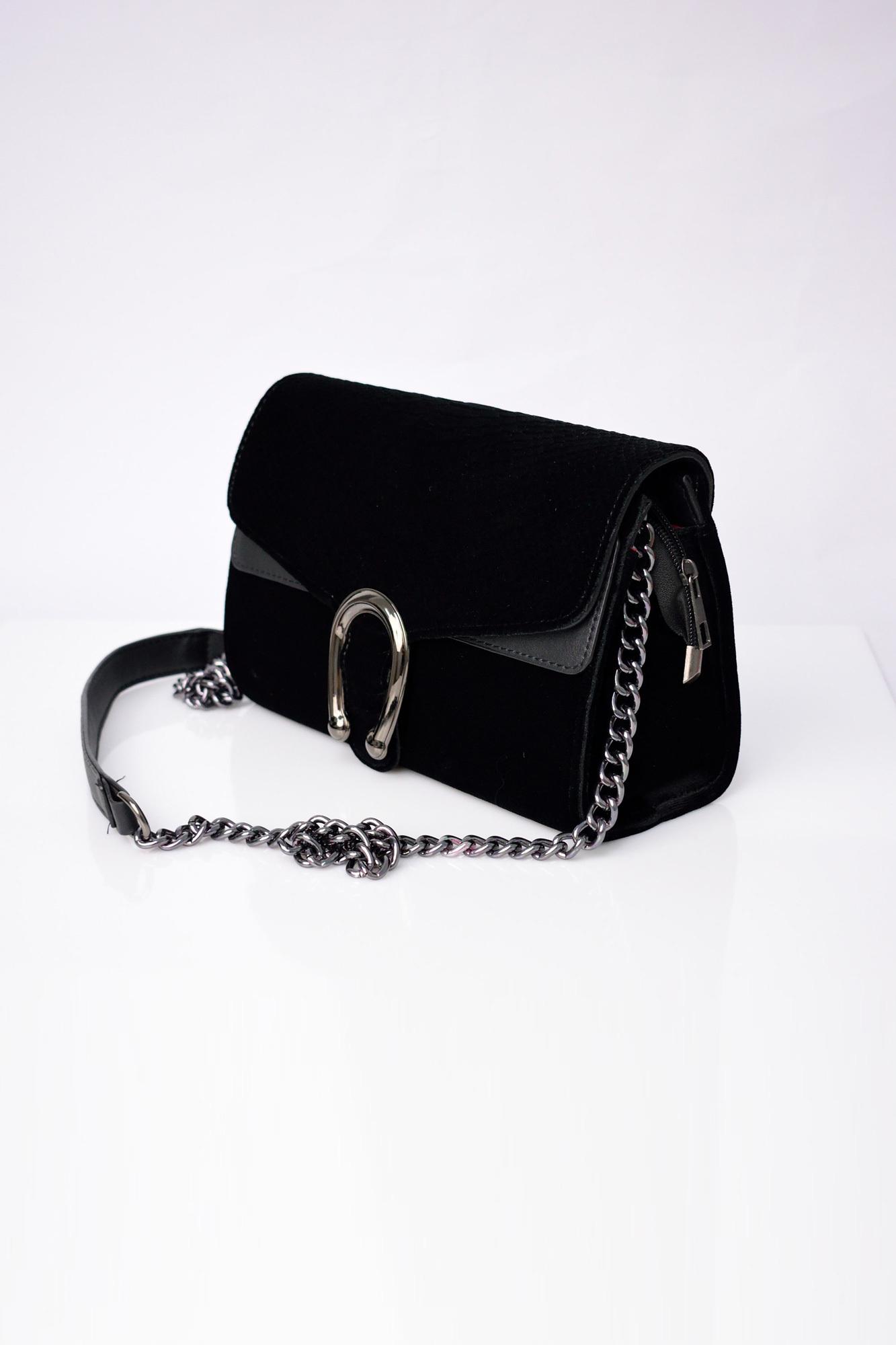 bdf1c1054f Γυναικεία βελούδινη τσάντα με αλυσίδα. Tap to expand