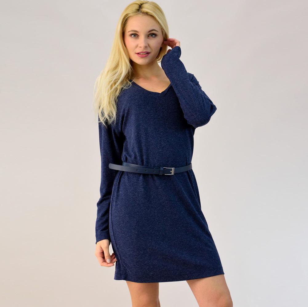 Μακρυμάνικο πλεκτό φόρεμα