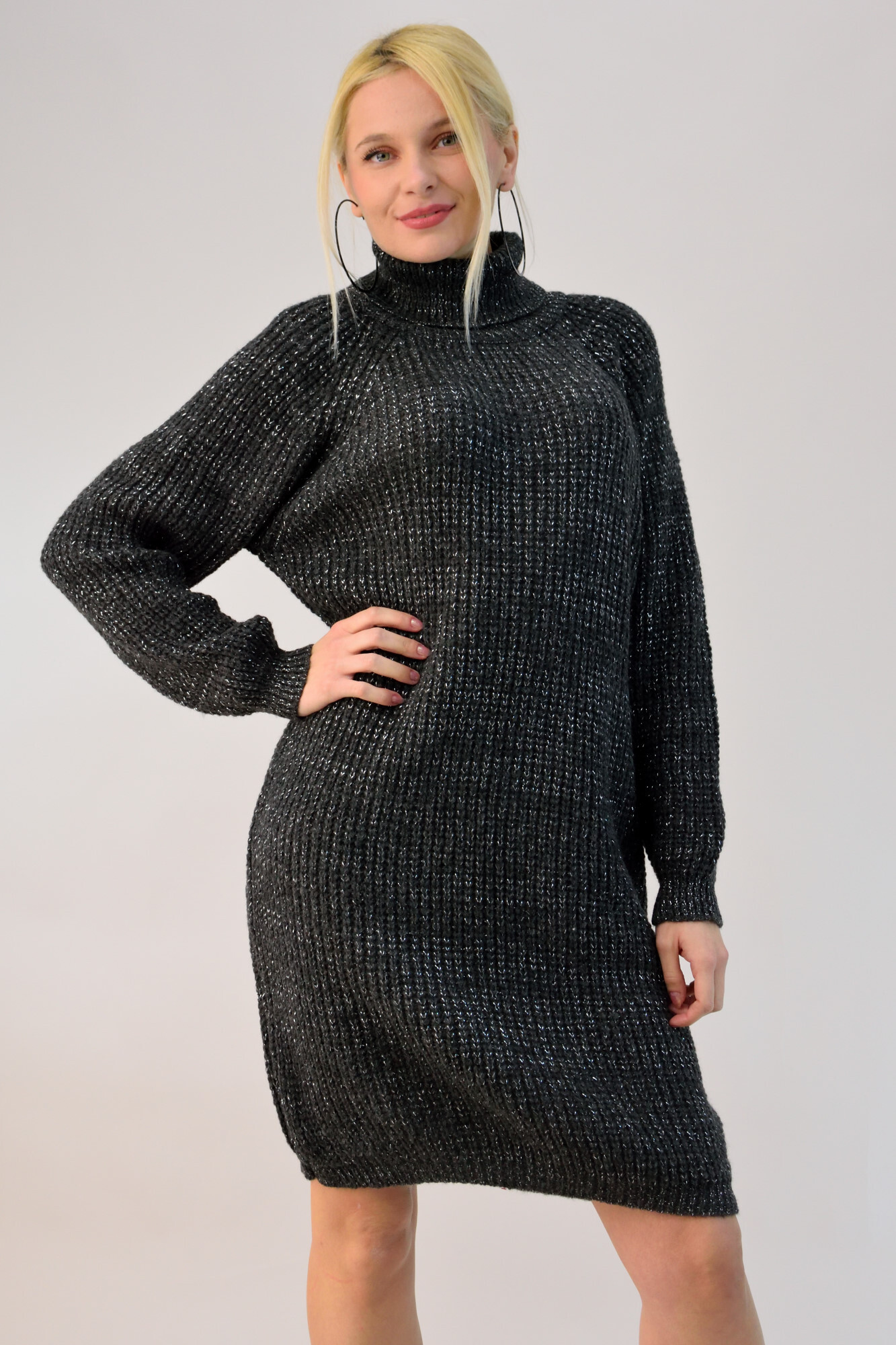 9bbd19350aea Πλεκτό φόρεμα ζιβάγκο λούρεξ. Tap to expand