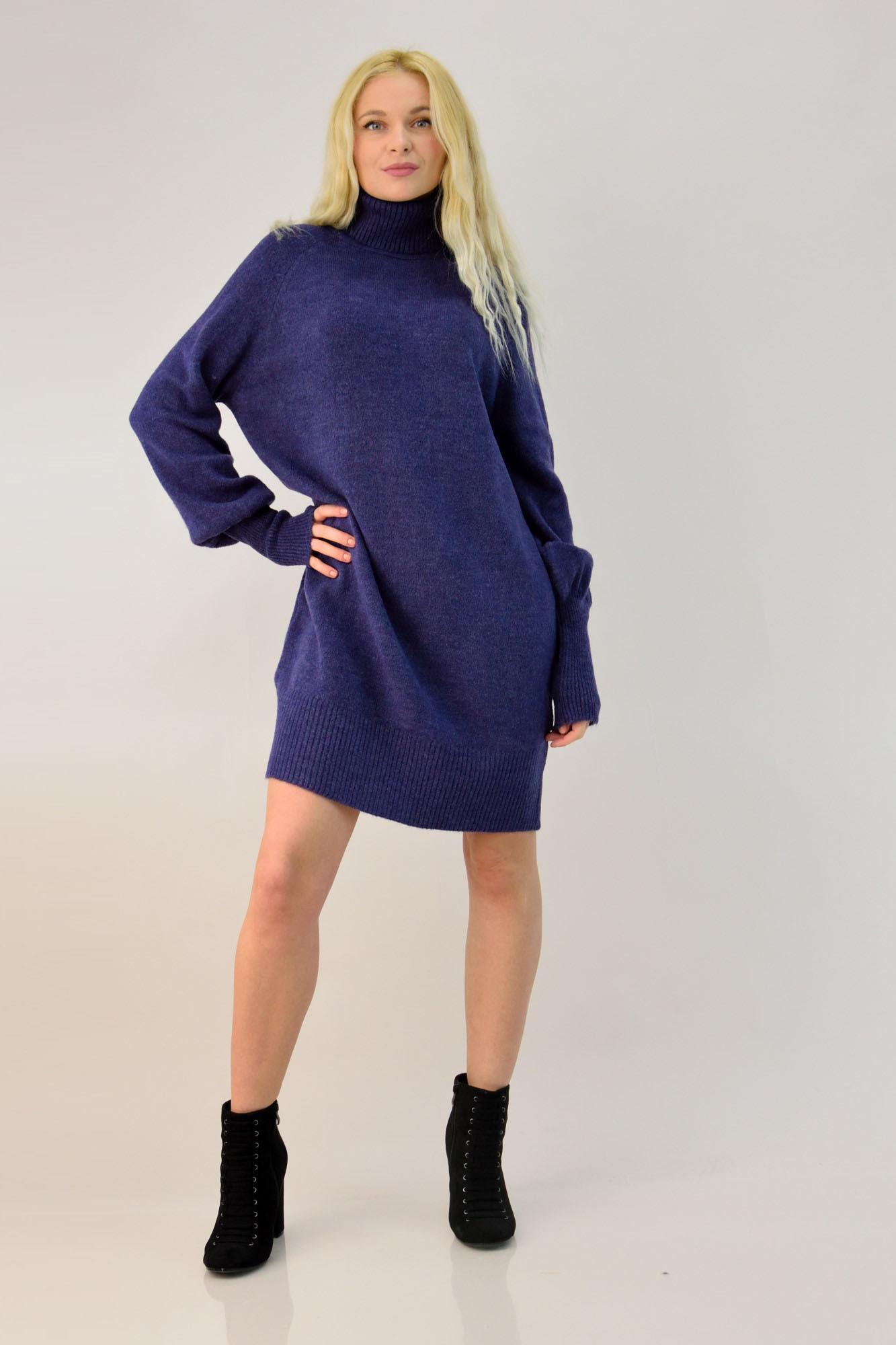 d6b67e42ba0b Γυναικείο πλεκτό φόρεμα oversized. Tap to expand