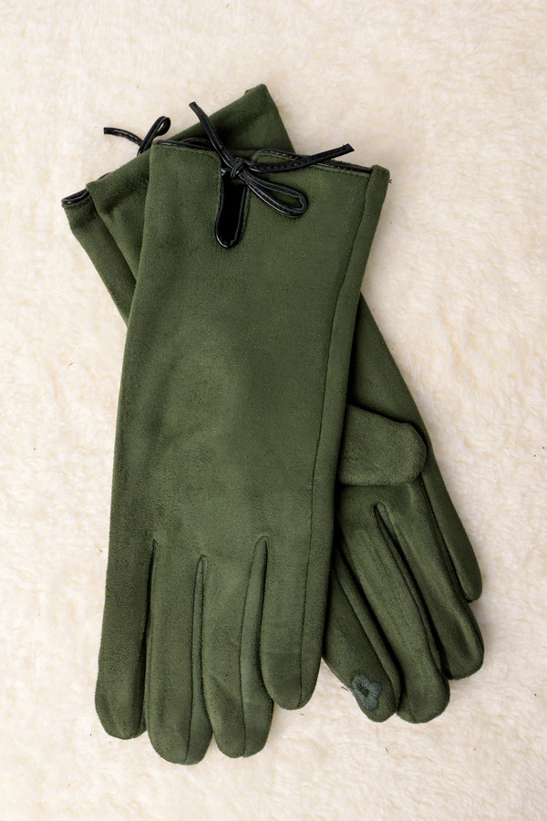 bebb546cb0e Βελούδινα γάντια με φιογκάκι