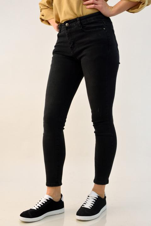 Γυναικείο παντελόνι τζιν μαύρο - Μαύρο