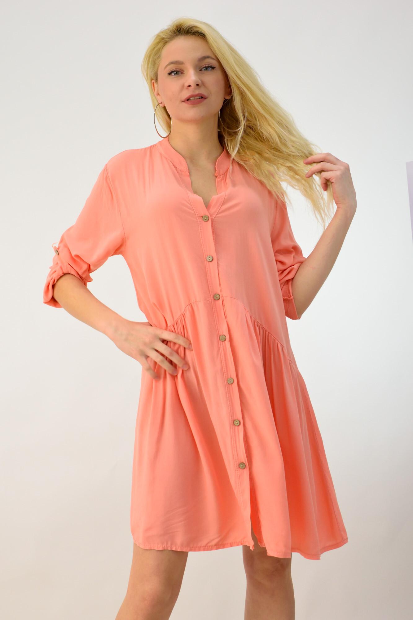 2293ff6f37fb Γυναικείο φόρεμα σε στυλ πουκάμισο. Tap to expand