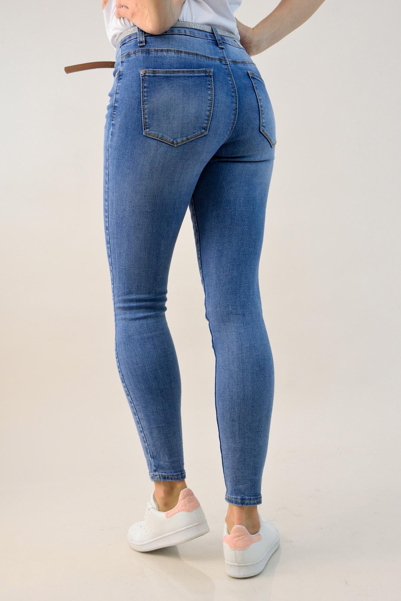b47e8ceca8d Γυναικείο τζιν skinny με ζώνη | POTRE