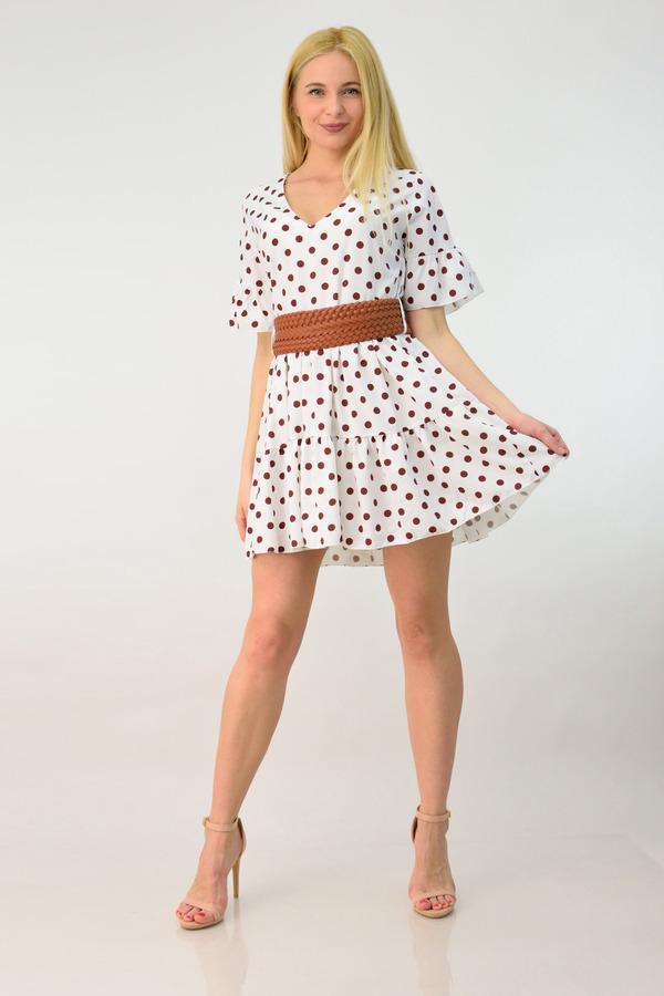 578d6afbfb3 Γυναικείο φόρεμα μίνι πουά | POTRE