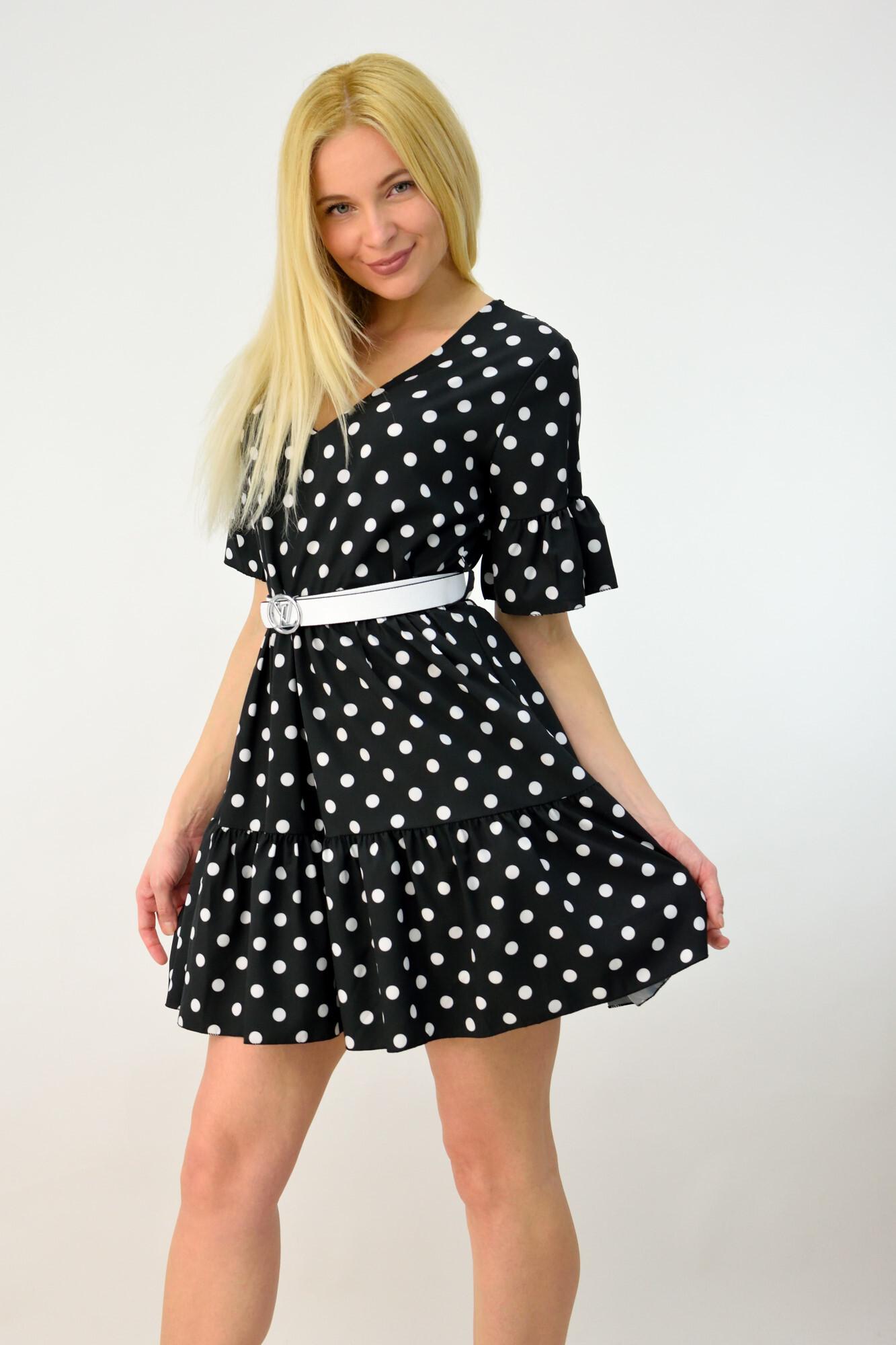 e810478fb81 Γυναικείο φόρεμα μίνι πουά. Tap to expand
