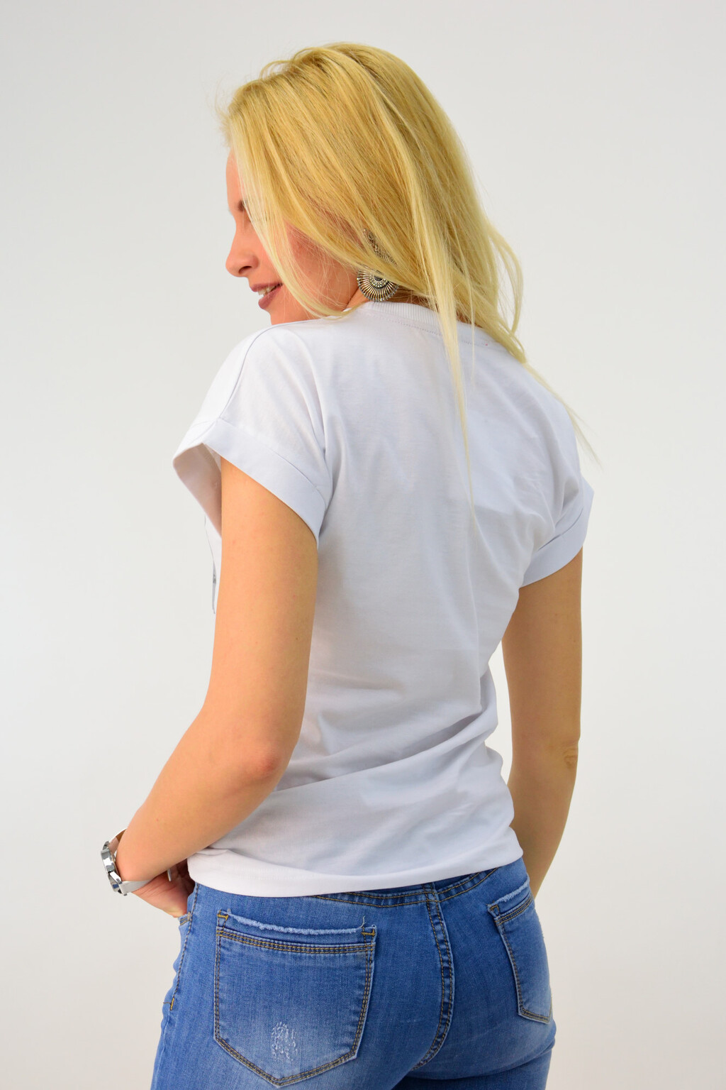 1acbcb8dce Γυναικείο t-shirt με φλούο τύπωμα