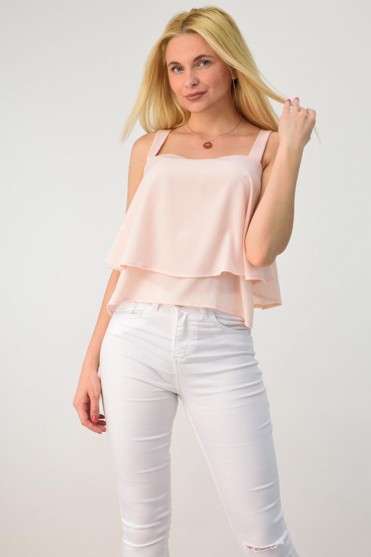 621ef05a1741 Γυναικεία μπλούζα με βολάν