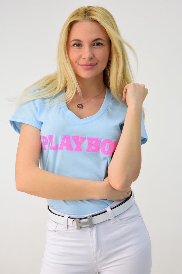 da00aa72142b Μπλούζα με τύπωμα και γκλίτερ - Γαλάζιο ...